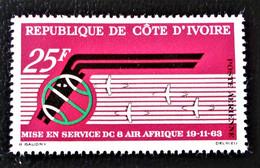 AIR AFRIQUE 1963 - NEUF * - YT PA 30 - MI 256 - Ivory Coast (1960-...)
