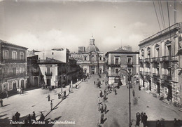 PATERNÒ-CATANIA-PIAZZA INDIPENDENZA- CARTOLINA VERA FOTO- VIAGGIATA  IL 12-7-1951 - Catania
