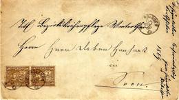 1869- Letter From Wiesen Dangen Fr.   Pair N°30 To Winterthur - Covers & Documents