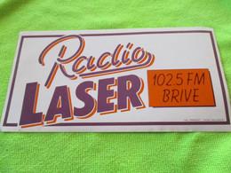 AUTOCOLLANT RADIO LASER BRIVE 102.5 - Stickers