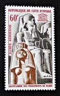 SAUVEGARDE DES MONUMENTS DE NUBIE 1964 - NEUF * - YT PA 31 - MI 264 - Ivory Coast (1960-...)