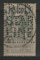 """BELGIQUE: N°78 Oblitéré Et Perforé """"RED STAR LINE"""" - 1863-09"""