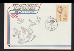 Soviet FDC 1980 Olympic Games In Moscow (G129-48) - Sommer 1980: Moskau