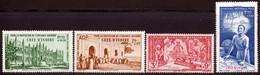 Cote D'Ivoire PA 1942 Yvert 6 / 9 ** TB PEIQI Bord De Feuille - Unused Stamps
