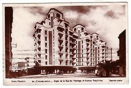 Casablanca - Angle De La Rue De L'Horloge Et Avenue Poeymirau - Circulé 1935 - Casablanca