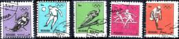 MANAMA, BAHREIN, SPORT, OLIMPIADI, 1972, 3 Dh., FRANCOBOLLO USATO Mi: AJ MN 1200A-1204A - Bahrain (1965-...)