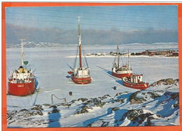 GREENLAND 001, * ICEBOUND COASTER At EGEDESMINDE * UNUSED - Greenland