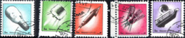 MANAMA, BAHREIN, NAVICELLE SPAZIALI, 1972, 3 Dh., FRANCOBOLLO USATO Mi: AJ MN 1205A-1209A - Bahrain (1965-...)