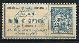 FRANCE Téléphones 1888:  Le Y&T 7 Obl. - Telegraaf-en Telefoonzegels