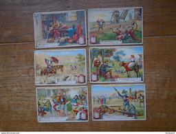 Assez Rare 6 Images Pub De Liebig , La Série Complète De Don Quichotte - Liebig
