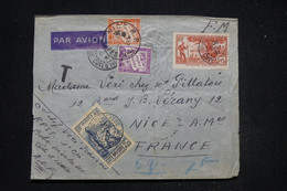 FRANCE - Taxes De Nice Sur Enveloppe De Bobo Dioulasso ( Côte D'Ivoire ) En FM En 1941, à étudier - L 94932 - Postage Due Covers
