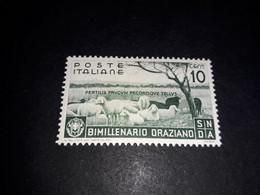 """A8MIX28 REGNO D'ITALIA 1936 BIMILLENARIO DELLA NASCITA DI ORAZIO 10 C. """"X"""" - Nuevos"""