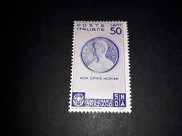 """A8MIX28 REGNO D'ITALIA 1936 BIMILLENARIO DELLA NASCITA DI ORAZIO 50 C. """"X"""" - Nuevos"""
