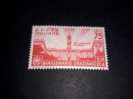 """A8MIX28 REGNO D'ITALIA 1936 BIMILLENARIO DELLA NASCITA DI ORAZIO 75 C. """"X"""" - Nuevos"""