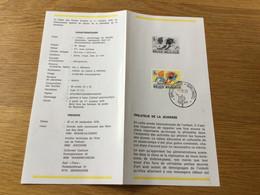 Belgique : N°1944 Tintin Sur Dépliant De La Poste . Cachet Officiel 1er Jour - Cartas