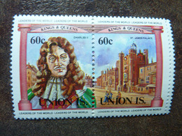 UNION ISLAND   Kings And Queens  60c   **  MNH - St.Vincent E Grenadine