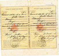 1883 ROMA MILITARI IN VIAGGIO SULLE FERROVIE BIGLIETTI ROMA PERUGIA COMANDO DELLA DIVISIONE MILITARE DI ROMA - Unclassified