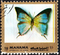 MANAMA, BAHREIN, FAUNA, FARFALLE, BUTTERFLIES, 1972, 1,50 Ri., FRANCOBOLLO USATO Mi: AJ MN 1124aA - Bahrain (1965-...)