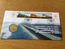 Belgique : N°2993\5 : 75 Ans De La SNCB Sur Numisletter (timbres + Médaille) - Numisletters