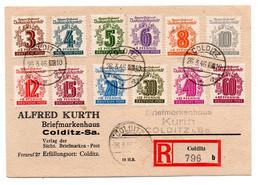 Allemagne - Deutschland -Germany 3pf Au 60 Pf 26/3/1946 Colditz - Enveloppe Recomandée - Ohne Zuordnung