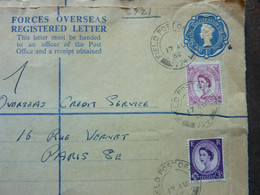 1962 Queen Elisabeth II Embossed + 2 Stamps Used - Covers & Documents