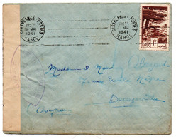 Maroc / Enveloppe / De Casablanca / Pour Decazeville / 31-5-1941 / Censure - Marokko (1956-...)