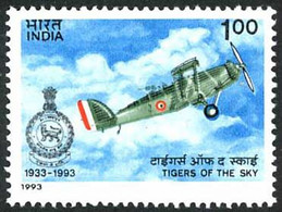 Inde India Indien 1993 Air Force 1 St Squadron Jubilee Westalnd Wapiti (YT 1181, Mi 1383 , SG 1534) - Airplanes
