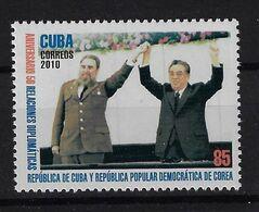 CUBA 2010. RELACIONES CUBA Y LA REPÚBLICA DEMOCRÁTICA DE COREA.EDIFIL 5586 - Nuevos