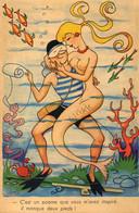 S 4   -   331  -     CARTE  FANTAISIE     -            Scène  Humoristique  - - Zonder Classificatie
