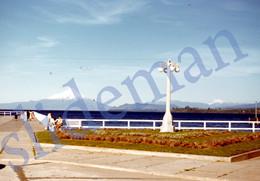1949 PIER OF PUERTO VARAS OSORNO VOLCANO CHILE AMERICA 35mm SLIDE PHOTO FOTO O3 - Diapositives (slides)