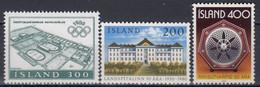 ++Iceland 1980. 3 Items. Michel 555,561,562. MNH(**) - Ungebraucht