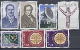 ++G2460. Iceland 1981. 7 Items. MNH(**) - Ungebraucht