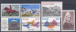 ++G2462. Iceland 1982. 7 Items. MNH(**) - Ungebraucht