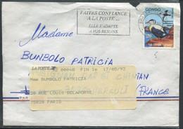 CONGO - N° 913 / LETTRE AVEC O.M. BRAZZAVILLE LE 5/10/1992 POUR LA FRANCE - TB - Oblitérés
