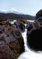 1949 EL SALTO WATERFALLS CHILE AMERICA 35mm SLIDE PHOTO FOTO O4 - Diapositives (slides)