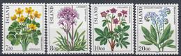 ++Iceland 1983. Flowers. Michel 592-95. MNH(**) - Ungebraucht