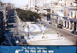 50s PAA PAN AM AMERICAN AIRWAYS PRADO HAVANA CUBA AMERICA 35mm SLIDE PHOTO FOTO O5 - Diapositives (slides)