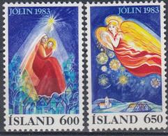 ++Iceland 1983. Christmas. Michel 608 MNH(**)/609 Without Gum! - Ungebraucht
