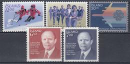 ++G2463. Iceland 1983. 5 Items. MNH(**) - Ungebraucht