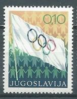 Yougoslavie YT N°1280 Drapeau Olympique Neuf ** - Neufs