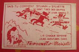 Buvard Journal De Fripounet Et Marisette. Fleurus. Sylvain Et Sylvette. Vers 1950 - F