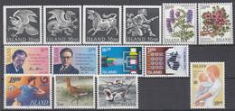 ++G2468. Iceland 1988. 14 Items. MNH(**) - Ungebraucht