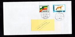 ETHIOPIE ETHIOPIA  ENVELOPPE COVER DRAPEAU FLAG Et RENARD FOX 28 04 1997 - Etiopia
