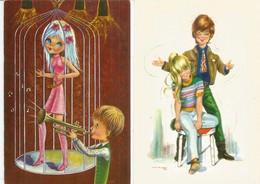 La Jeunesse Des Années 1960's. Les Années D'insouciance.  2 Cartes Postales Neuves, Non Circulées - Gruss Aus.../ Grüsse Aus...