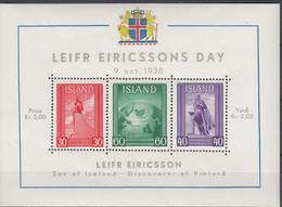++Iceland 1938. Leifr Eiricssons Day. Michel 2. MNH(**) - Blocks & Kleinbögen
