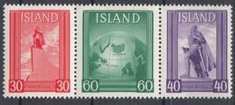 ++Iceland 1938. Leifr Eiricssons Day. Michel 197-99. MNH(**) - Ungebraucht