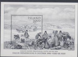 ++Iceland 1986. Day Of The Stamp. Michel 7. MNH(**) - Blocks & Kleinbögen