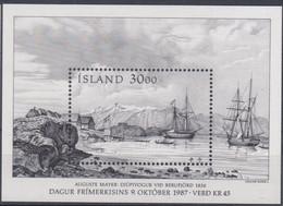 ++Iceland 1987. Day Of The Stamp. Michel 8. MNH(**) - Blocks & Kleinbögen