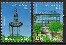 France 2009 N° 4384/4385 Neufs Jardins De France Sous Faciale - Unused Stamps
