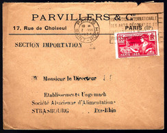 1924 - PARIS JEUX OLYMPIQUES - POUR STRASBOURG - Verano 1924: Paris